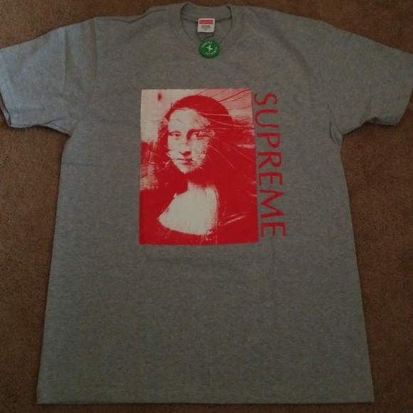 Supreme Mona Lisa Tee Heather Grey